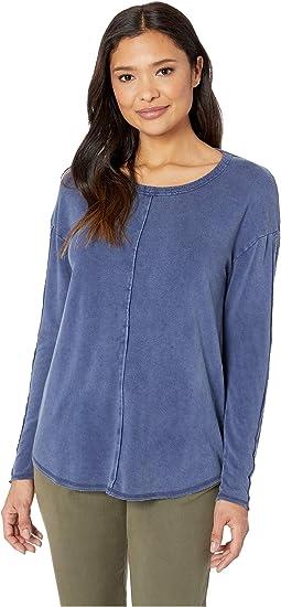 Rayon Spandex Fleece Drop Shoulder Tunic with Rib Trim