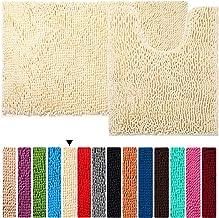 Bath Rug Set Floor Non Slip Bathroom Mat ORANIFUL Microfiber Shaggy Toilet Mat Plush Super Water Absorbent Machine Wash/Dr...