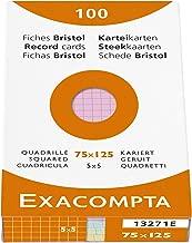 Exacompta Index Cards 3X5 Inch 100Pk