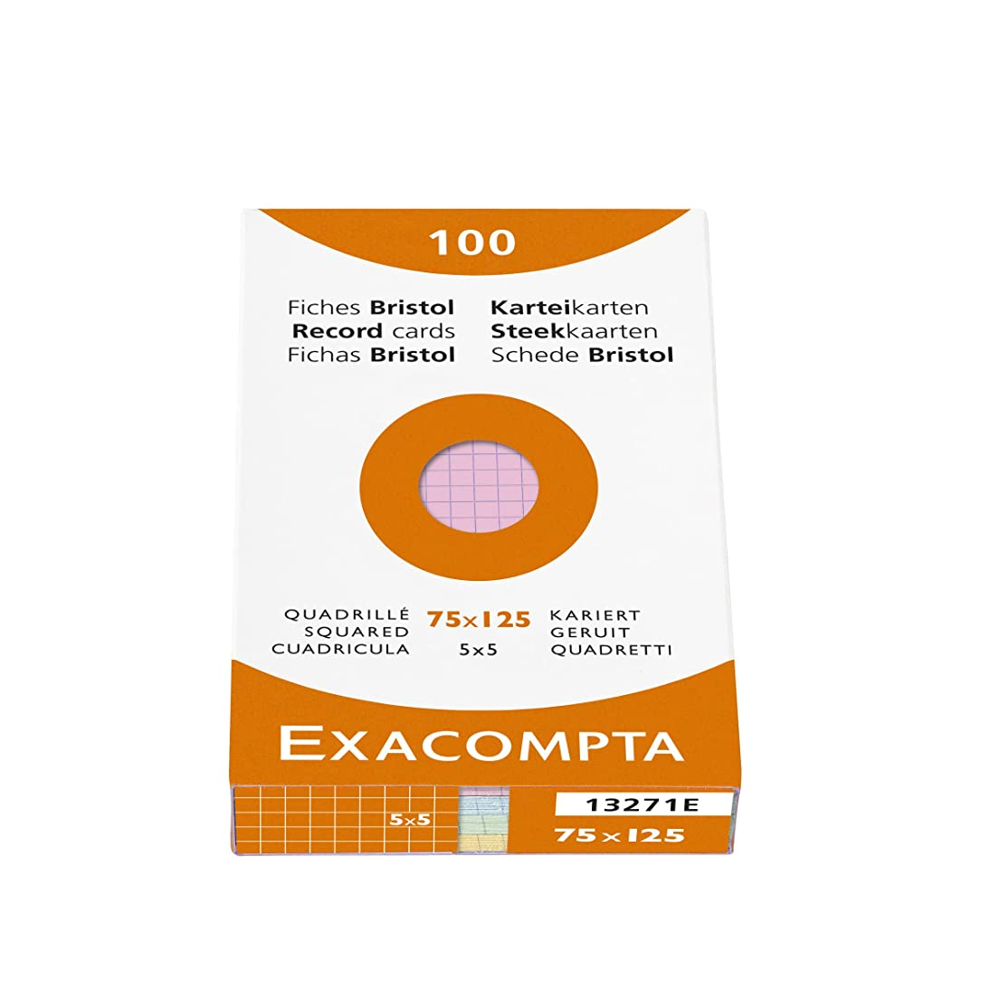 Exacompta Index Cards 3X5 Inch 100Pk