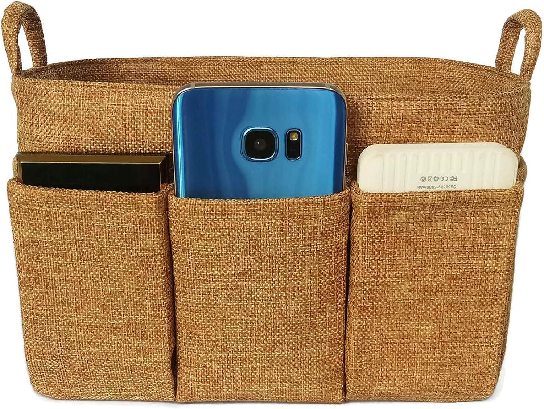 K&M Quality Product Small Handbag Organizer fits LV Neverfull PM Speedy 25 Purse Insert Tote Bag Organizer 9x4 Fabric Lightweight Handles Multi Pocket (gold)