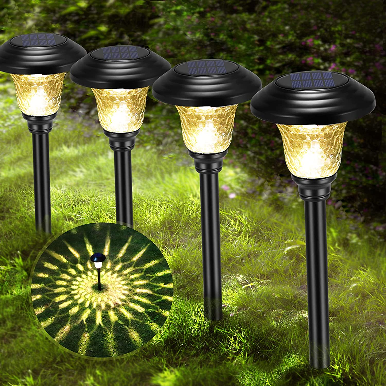 Solar Special sale item Lights Outdoor Pathway Kansas City Mall Wireless Garden Glas