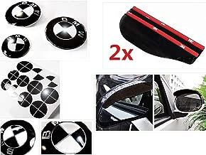 GLOSS BLACK Sticker Overlay Vinyl for All BMW Emblems Caps Logos Roundels