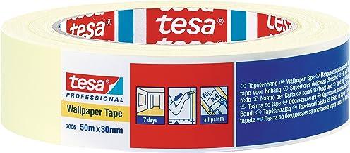 tesa 7006 Gevoelige Oppervlakken Lage Tack Masking Tape, 7 Dagen Residue Gratis Verwijderen, 30 mm x 50 m 50 mm x 50 m Nie...