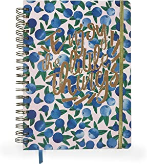 Stylish Planner With Gold Foil Hard Cover, Ribbon Bookmark, Elastic Closure, Undated. 7.5 x 10 Inches
