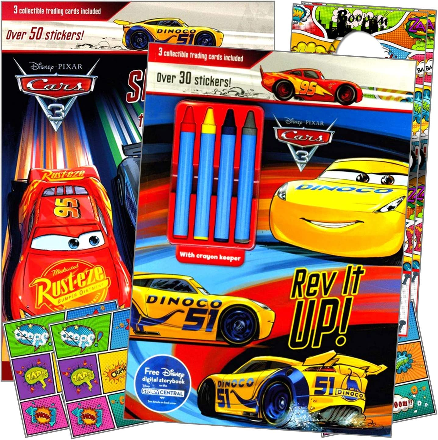 Disney Cars Accessories for Kids Bundle Includes Separately Licensed Reward Stickers and Door Hangers for Children Coloring Book Set