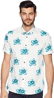 Men's Silky Short Sleeve Floral Print Shirt