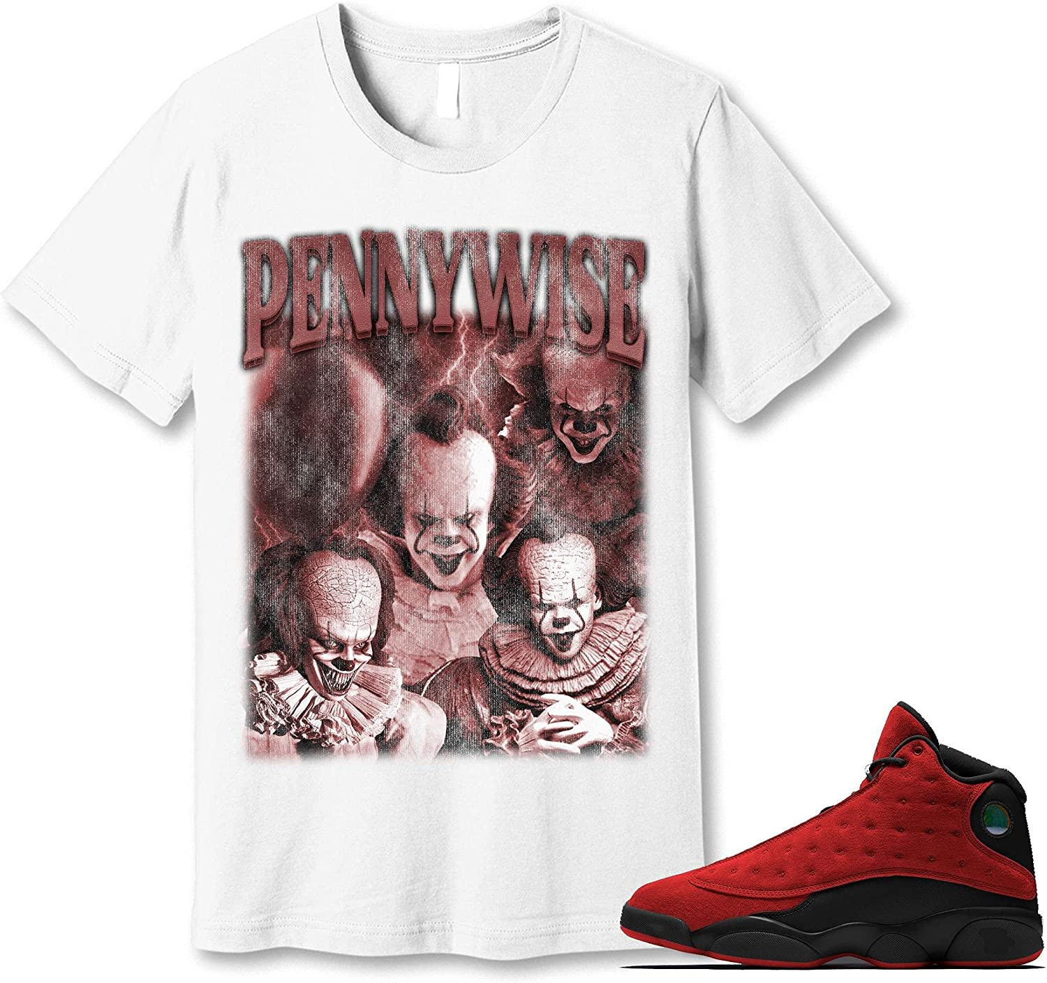 #Pennywise T-Shirt to Match All Regular discount items free shipping Jordan Bred 13 Snkrs Sneaker Reverse
