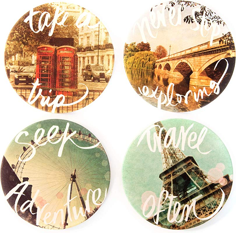 CoasterStone AS866 Travel Set Of 4 Coasters One Size Multicolored