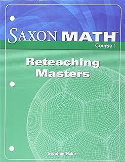 Saxon Math, Course 1: Reteaching Masters