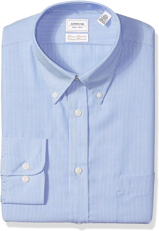 Details about  /New Arrow Men/'s Regular Fit Short Sleeve Dress Shirt Canela