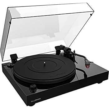Fluance RT83 Reference High Fidelity Vinyl Turntable Record Player with Ortofon 2M Red Cartridge, Speed Control Motor, Solid Wood Plinth, Vibration Isolation Feet - Piano Black