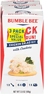 BUMBLE BEE Snack on the Run Chicken Salad with Crackers, Canned Food, High Protein Snacks & Groceries, 3.5 Ounce (Pack of 3)