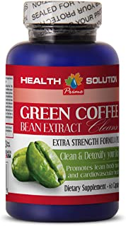 Organic Green Coffee Bean Supplement - Green Coffee Bean Extract Cleanse - Metabolism Booster for Weight Loss 1 Bottle 60 ...