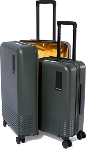 Set of 2 Luggage Polycarbonate Hardsided Suitcase Trolley Seaweed Green 55 cms 68 cms