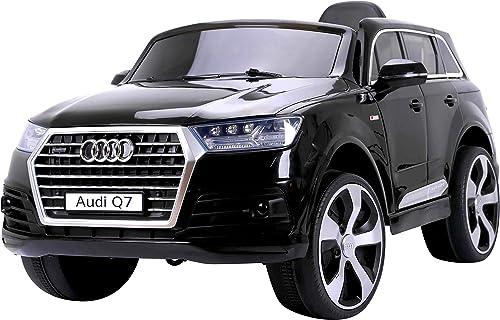 Los mejores precios y los estilos más frescos. RunRunToys- Coche Coche Coche Audi Q7 eléctrico 12V para para Niños +3 años con Dos plazas con Radio FM y Control Remoto (Herrajes Multimec 4015)  alto descuento
