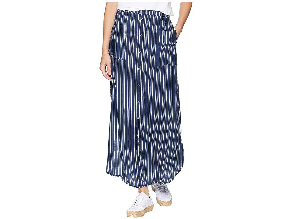 Roxy Sunset Islands Skirt (Dress Blues Vertical Stripes) Women