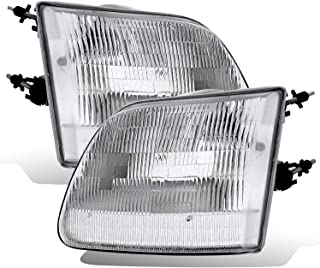 AmeriLite Chrome Clear Replacement Headlight Set for Ford 150/Expedition Pair w/Bulb