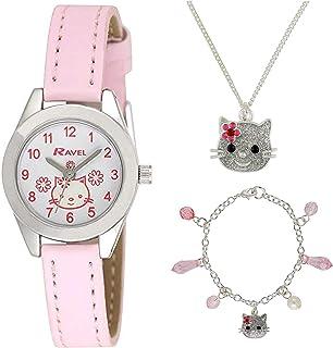 Ravel Little Gem Kids Kitten Watch & Jewellery gift Set For Girls R2212