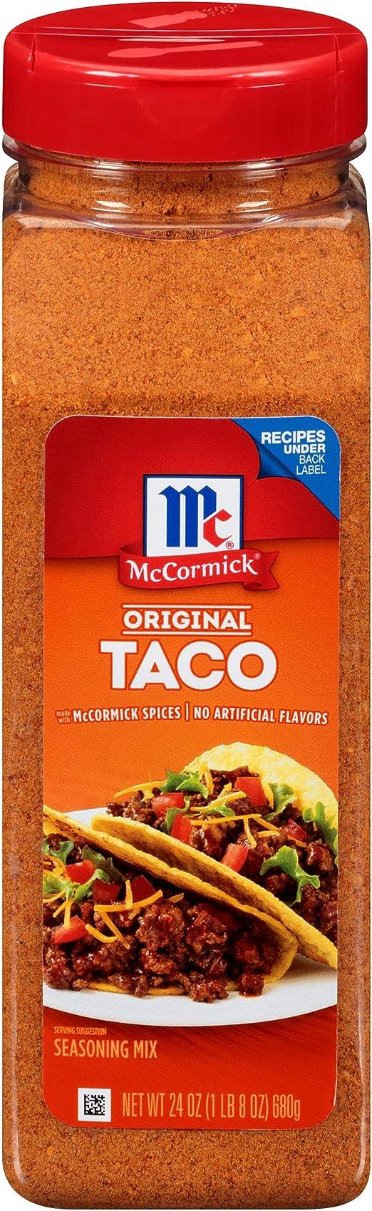Mccormick Original Taco Seasoning Mix 680g Tub Amazon Co Uk Grocery