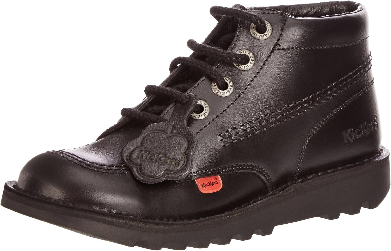 Kickers Kick Hi - Black Leather Mens Boots