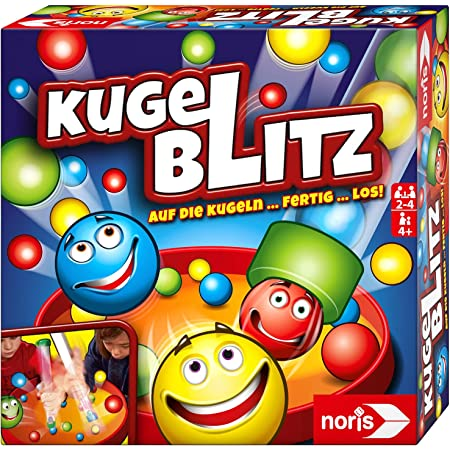 Noris 606064480 Kugelblitz, das blitzschnelle Actionspiel mit Lerneffekt in verschiedenen Spielvarianten, ab 4 Jahren