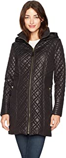 Via Spiga Women's Center Zip Diamond Quilt
