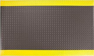 "AmazonBasics Anti-Fatigue Mat Diamond Deckplate Single-Layer Foam 1/2"", 3x10 Black/Yellow"