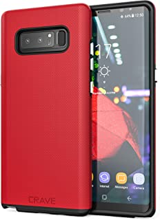 Note 8 Case,  Crave Dual Guard Protection Series Case for Samsung Galaxy Note 8 - Red