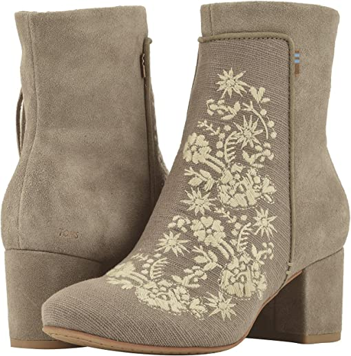 Desert Taupe Embroidered Heritage Canvas