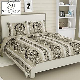 Nimsay Home Vienna Barroco Estilo vintage clásico Edredón Funda nórdica 100% algodón egipcio T230 Juego de sábanas de ropa de cama de satén (Beige / Marrón claro, individual)