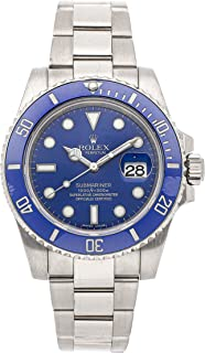 Rolex Submariner Mechanical (Automatic) Blue Dial Mens Watch 116619 (Certified Pre-Owned)