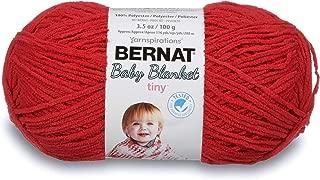 Bernat Baby Blanket Tiny Yarn, 3.5 oz, Gauge 4 Medium, Red Barn