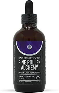 RAW Forest Foods - Pine Pollen Alchemy (4 Ounce) - Endocrine Strengthening Formula (ESF) with Pine Pollen, He Shou Wu, Ast...