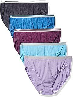 Women's Plus Size Fit for Me 5 Pack Microfiber Hi-Cut...