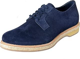 Prada Men's Blue Suede Lace Up Oxfords Shoes Sz US 10 IT 9 EU 43