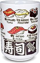 Japanese Yunomi Sushi Tea Cup Mino Ware, Sushi Print