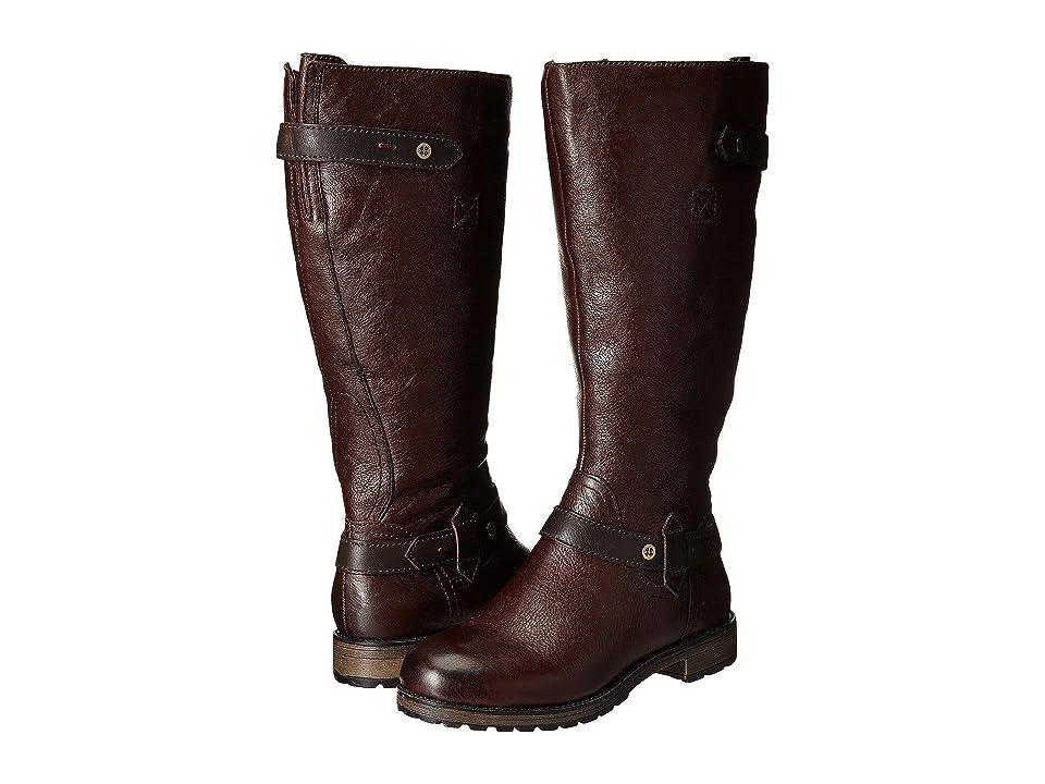 Naturalizer Tanita Wide Calf (English Tan/Oxford Brown Leather) Women