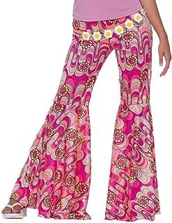 Women's 60's Hippie Flower Power Bell Bottoms Adult Costume
