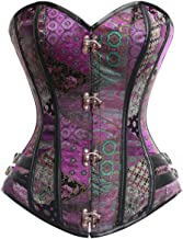 Charmian Women's Steampunk Gothic Brocade Steel Boned Bustier Corset with Buckle