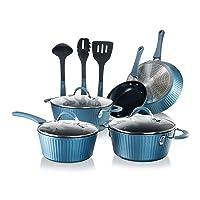 Deals on 11-Pcs NutriChef Nonstick Cookware Excilon Pots & Pan Set