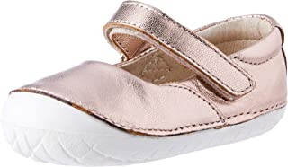 Old Soles Girl's Pave Jane Leather Hook and Loop Mary Jane Flat Shoe