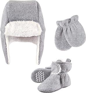 Hudson Baby Unisex czapka chwytakowa dla dzieci, zestaw rękawiczek i butów, szary wrzosowy, 6-12 miesięcy