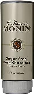 Monin Flavored Sauce, Sugar Free Dark Chocolate, 12-Ounce Bottles (Pack of 6)