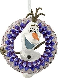 Hallmark Christmas Ornament Disney Frozen Olaf Adventure with Wreath