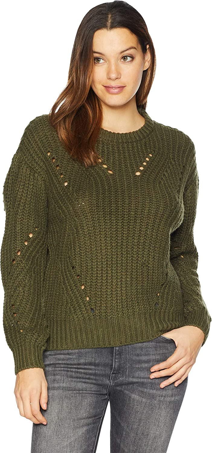 Two by Vince Camuto Womens Long Sleeve Transfer Ribbed Sweater