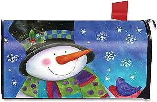Briarwood Lane Festive Snowman Winter Magnetic Mailbox Cover Cadinal Standard