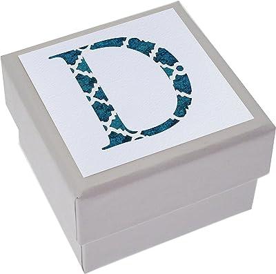 White Cotton Cards Alphabetics, Mini Caja, Inicial D, Varios
