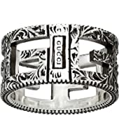 Gucci - G Motif Ring in Aged Sterling Silver