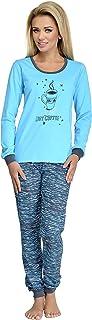 comprar comparacion Merry Style Pijamas Conjunto Camisetas Mangas Largas y Pantalones Largos Ropa de Dormir de Cama Lencería Mujer 1022